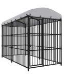 jaula grande pintada negro con lona