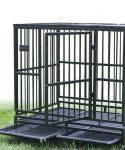 jaula mediana con puerta y bandeja